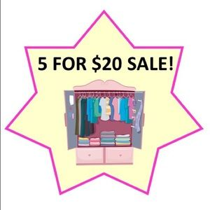 SALE! 5 pieces for just $20 on all Girls Bundles!